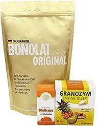 ボノラート600g(30g×20杯分) & ビューティキャップ(60粒)& グラノザイムセット(32粒)無添加 乳プロテイン 酵素タブレット