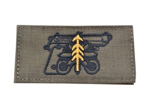 ハンドガン 1等軍曹 プレイスタイル ベルクロ付き ワッペン パッチ 徽章 サバゲー オリーブドラブ OD