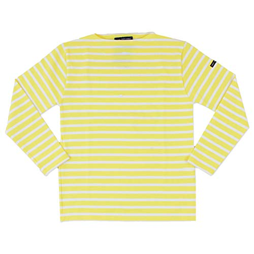 SAINT JAMES (セントジェームス) OUESSANT ウエッソン ボートネック 長袖ボーダー バスクシャツ ウェッソン レディース メンズ (ユニセックス) (OUESSANT R A) (T0(S), ANANAS/NEIGE)