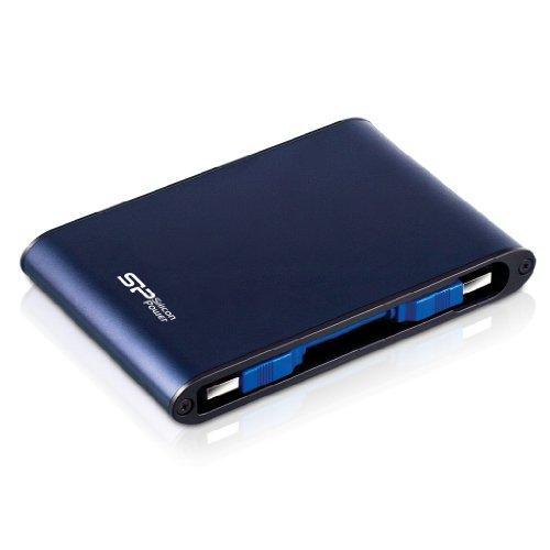 シリコンパワー ポータブルHDD 500GB 2.5インチ USB3.0/2.0対応 耐衝撃 防水 Armor A80 SP500GBPHDA80S3B