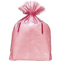 包む ラッピング袋 シンテックス巾着BAG(マチ付) LLサイズ T-2275-LL ピンク