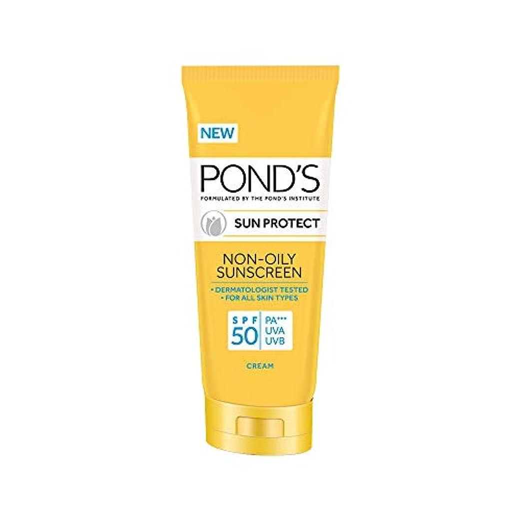液体ベンチ動揺させるPOND'S SPF 50 Sun Protect Non-Oily Sunscreen, 35 g