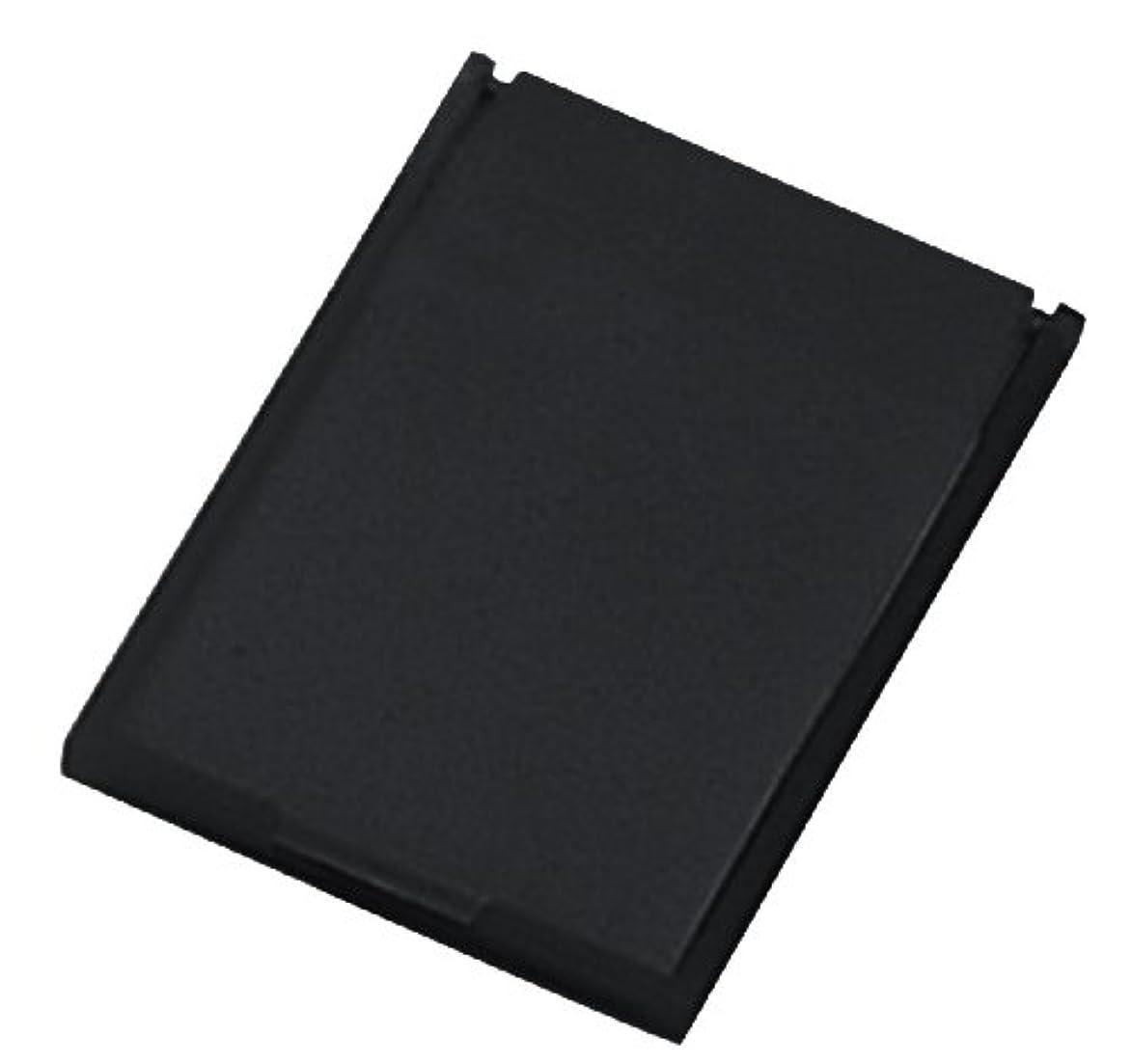 リーフレットスクリーチ電気ミニコンパクトミラー 39×49㎜ ブラック YK-150