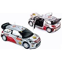 Citroen DS3 WRC Race Car 7 Al-Attiyah / Bernacchini - Rallye du Portugal 2012 - Norev 181558 - 1/18 Scale Diecast Model Toy Car