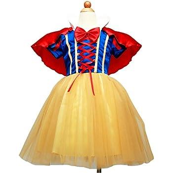 42585d8b8610c Eternal Wings子供用 白雪姫風 ドレス+マント+カチューシャ プリンセス風 ワンピース 女児 女の子 白雪姫風 ドレス (90)
