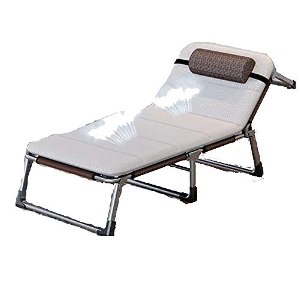 苛性発生器泥棒厚手の補強された夏の折りたたみ式ベッドシングルベッドオフィスの仮眠キャンプのベッド調節可能な背中 (Size : C)