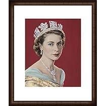 ポスター ドロシー ウィルディング Queen Elizabeth II 額装品 ウッドハイグレードフレーム(オーク)