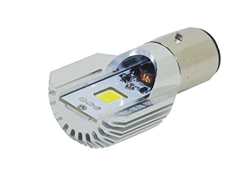 Reontiger バイク用LEDヘッドライト Hi/Lo切り替えタイプ ホワイト 12W 800Lm  6V-80V H4BSタイプ9676