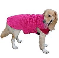 犬の服 犬 秋服 冬服 春服 無地 もこもこ 犬服 暖かい ドッグウェア ナイロン 撥水 ジャケット 犬用品 コスチューム 犬用 中型犬 大型犬 ペットグッズ 散歩 ローズレッド
