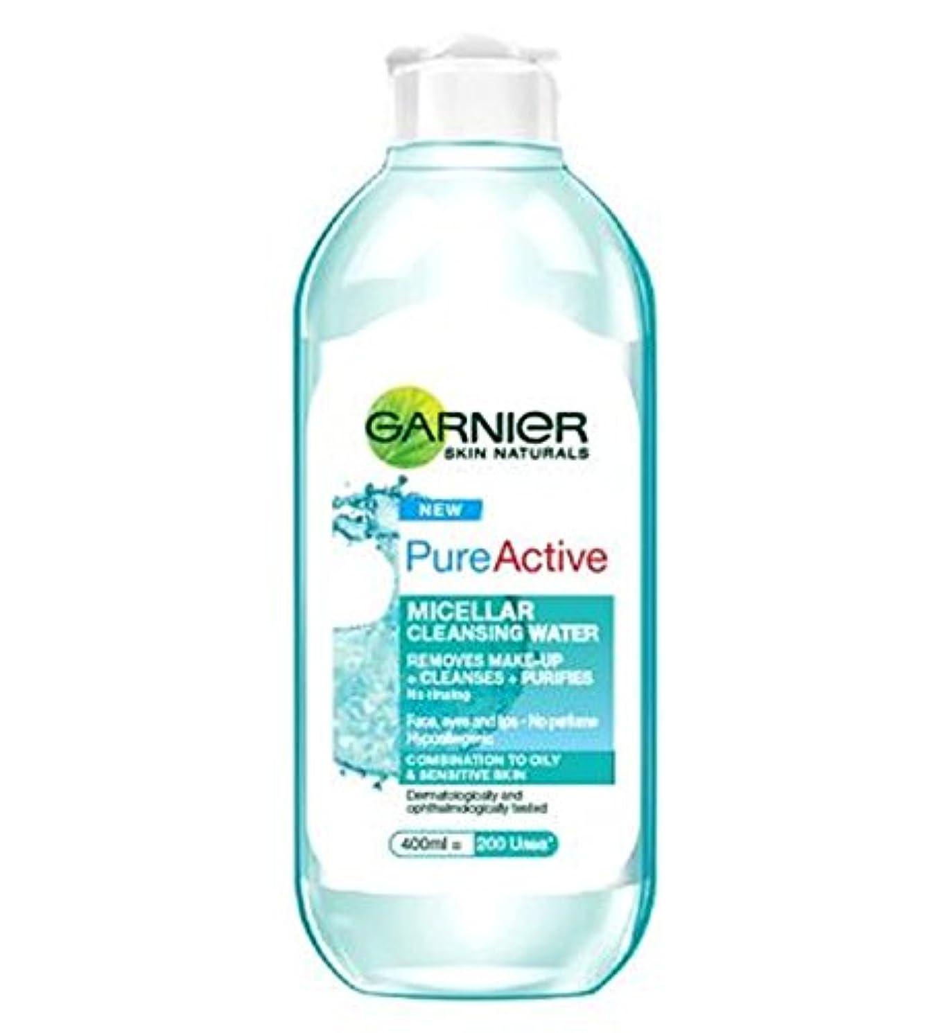 微弱マナーテーブルを設定するガルニエ純粋なミセル洗浄水400ミリリットル (Garnier) (x2) - Garnier Pure Micellar Cleansing Water 400ml (Pack of 2) [並行輸入品]