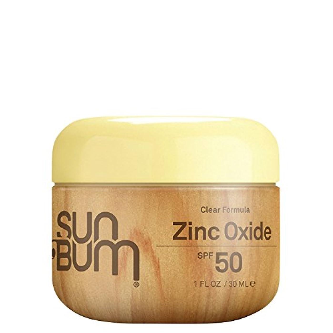 噴出するベアリング関係Sun Bum SPF 50 vxfqbサンスクリーンクリア酸化亜鉛ローション、1オンス4パック
