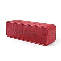 Anker SoundCore ポータブル Bluetooth4.0 スピーカー 24時間連続再生可能【デュアルドライバー   ワイヤレススピーカー   内蔵マイク搭載】(レッド) …