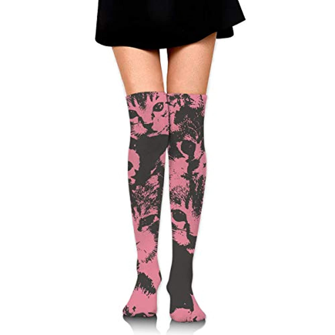 浪費郡スチュワーデスMKLOS 通気性 圧縮ソックス Breathable Thigh High Socks Over Exotic Psychedelic Print Compression High Tube Thigh Boot Stockings...