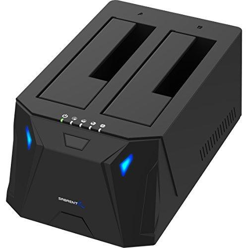 Sabrent USB 3.0to SATA I/II / IIIデュアルベイ外付けHDDドッキングステーション2.5または3.5in HDD、SSD用ハードドライブDuplicator/Cloner機能[ 10TBサポート] (ec-hd2b)