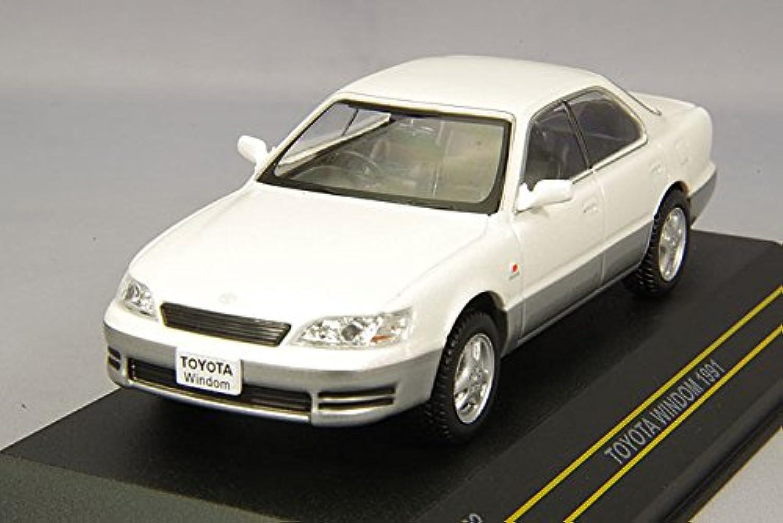 FIRST:43 1/43 トヨタ ウィンダム 1991 ホワイト/グレイ 完成品