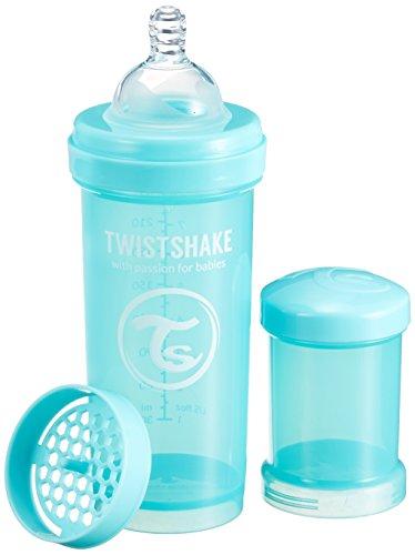 TWIST SHAKE (ツイストシェイク) ツイストシェイク カラフル 哺乳びん プラスチック製 260ml ターコイズ