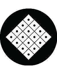 家紋シール 十六目結紋 布タイプ 直径40mm 6枚セット NS4-1857