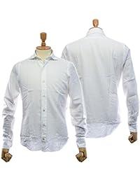 (フィナモレ)FINAMORE メンズカッタウェイシャツ SIMONE(シモーネ)/ GENOVA 980166 ホワイト [並行輸入品]