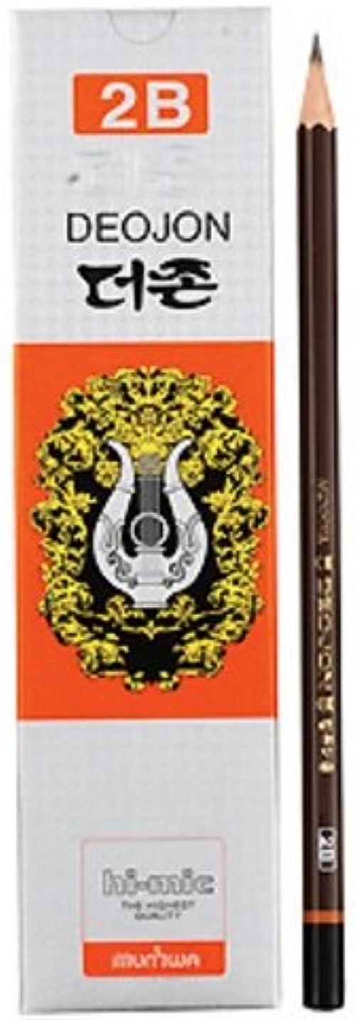 甲虫神聖肉腫Munhwa Incense DEOJON鉛筆木製12個1ダース 2b ブラック deojon pencils