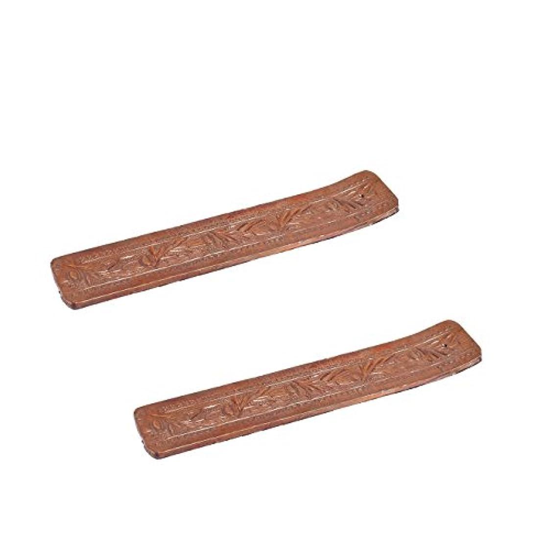 国籍ガラス故障中Hosley 2のセット、木製お香スティックholder- 10.50