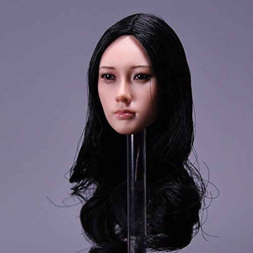 1:6 女性の頭 アジア美人 先生 教師 頭部 アクション フィギュア アクセサリー 交換用 素体 12インチ TBLeague素体