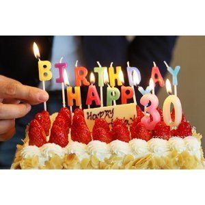 お誕生日 ケーキ用 カラフル キャンドル HAPPY BIRTHDAYの文字 & 0~9の数字 & 1.2.3.4の数字 合計27個 セット お祝い パーティー