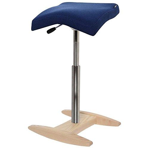 バランスシナジー/スクエアシート:ロングバージョン 腰痛 椅子(ネイビー(150BS003LN))