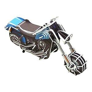 ゼンマイで動く3Dパズル のりものシリーズ アメリカンバイク 202-427