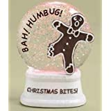 4.5 LED Lighted Color Changing Christmas Bites! Gingerbread Glitterdome by Roman