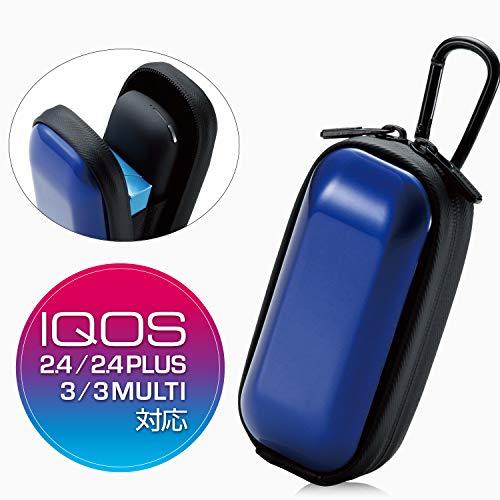 エレコム 電子タバコ IQOS3 / IQOS 3 MULTI用 ケース ハードケース ブルー ET-IQW3HCBU