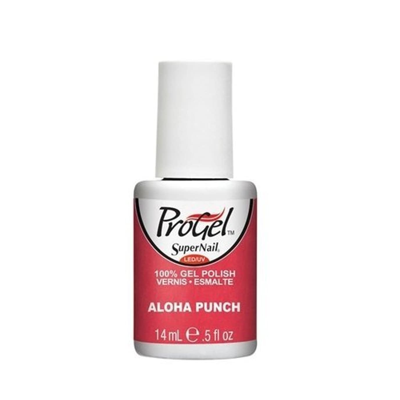 記念ピン限られたSuperNail ProGel Gel Polish - Aloha Punch - 0.5oz / 14ml