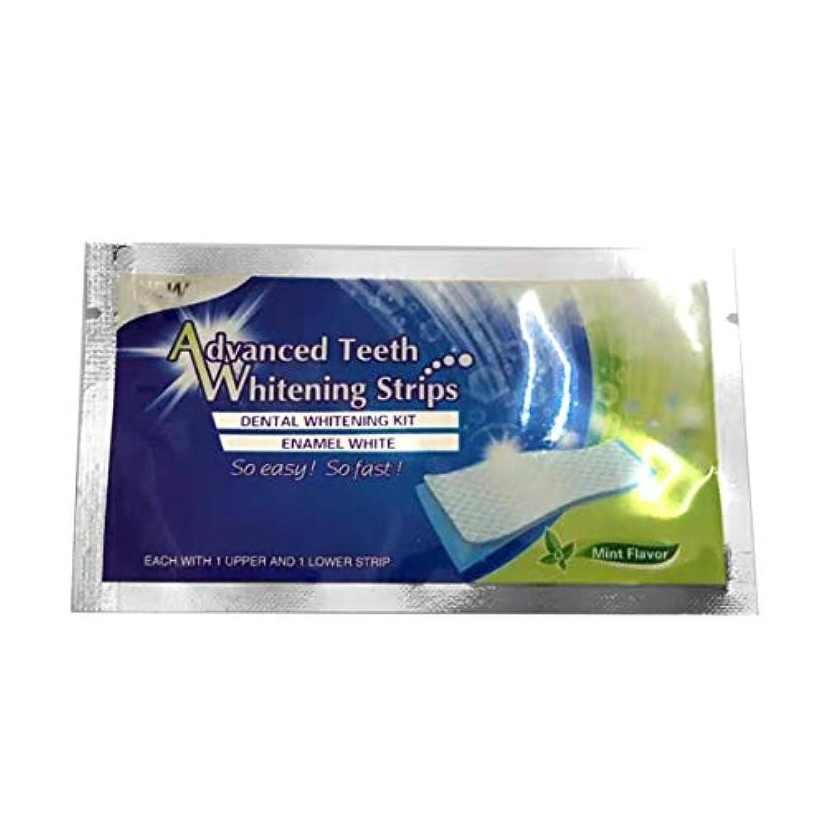 シガレット咳アルコールテープホワイトニングストリップホワイトテープ歯ホワイトニングプロフェッショナルホワイトニングアドバンストブリーチテープ - ホワイト