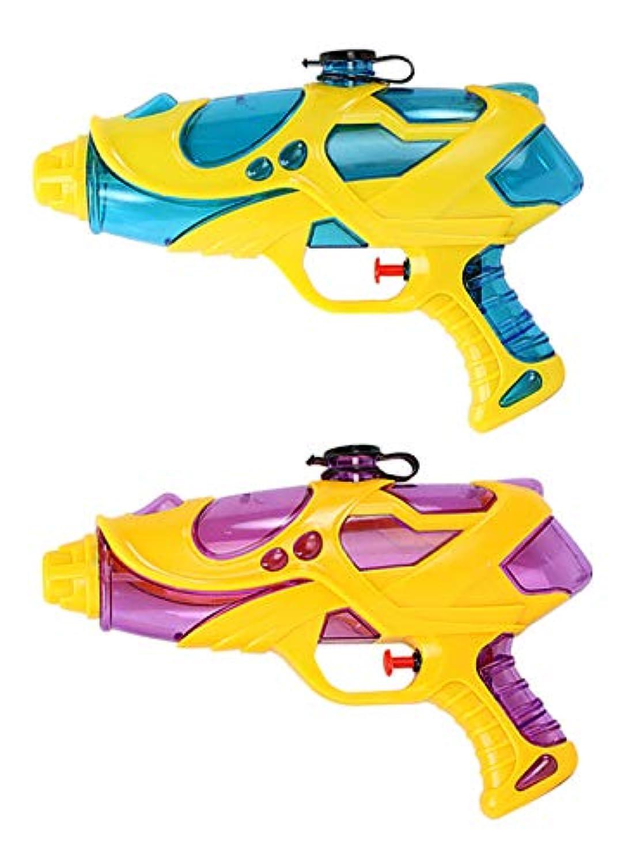 [ネッカー] 水鉄砲 ウォーターガン 水てっぽう 水ピストル 水遊び プール 玩具 おもちゃ (青 赤)