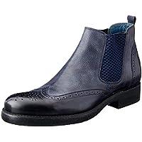 Brando Men's Artyom Brogue Gusset Boots, 1-Navy 273