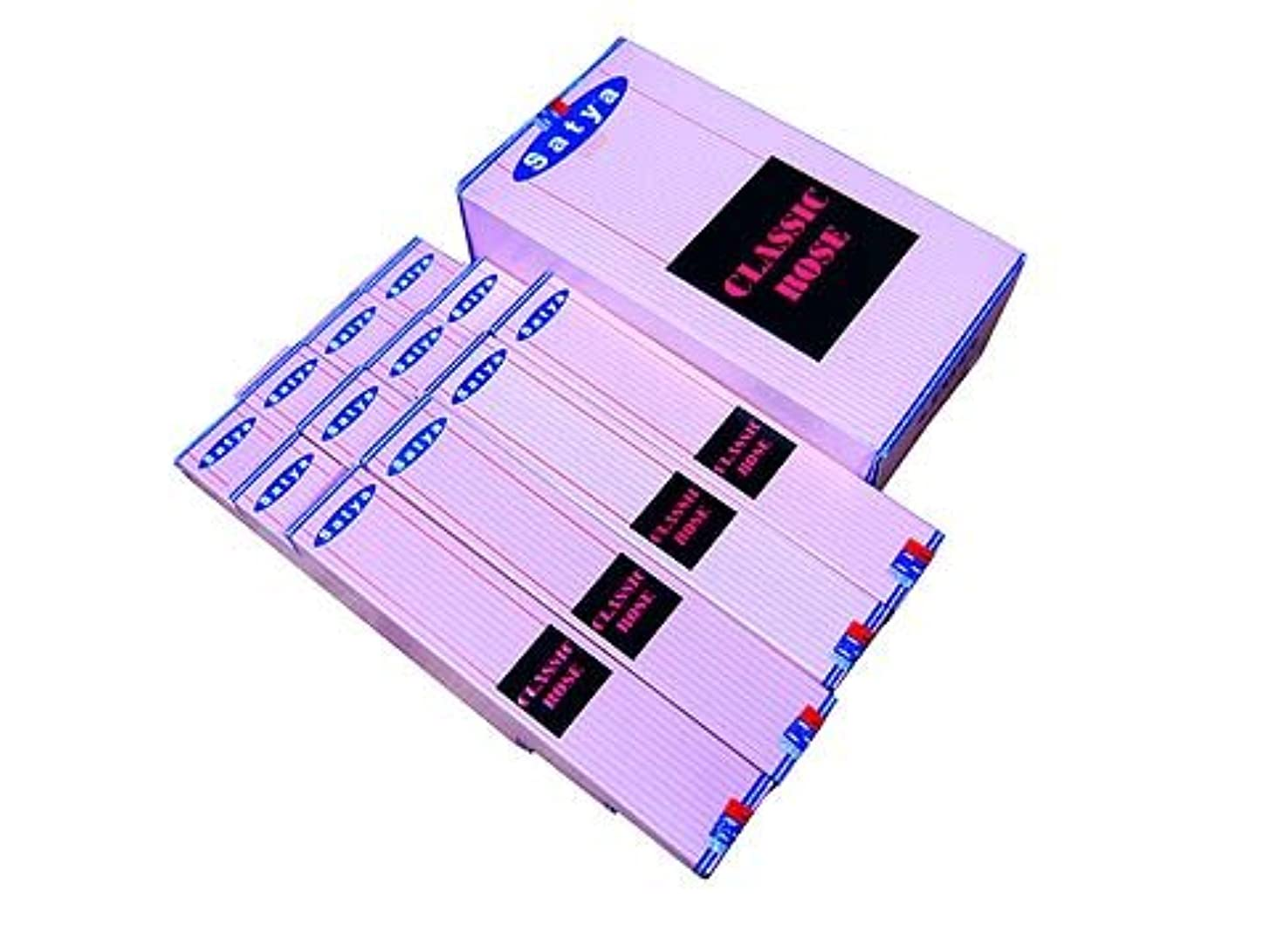 ジャングル比類のない品種SATYA(サチャ) クラシックローズ香 スティック CLASSICROSE 12箱セット