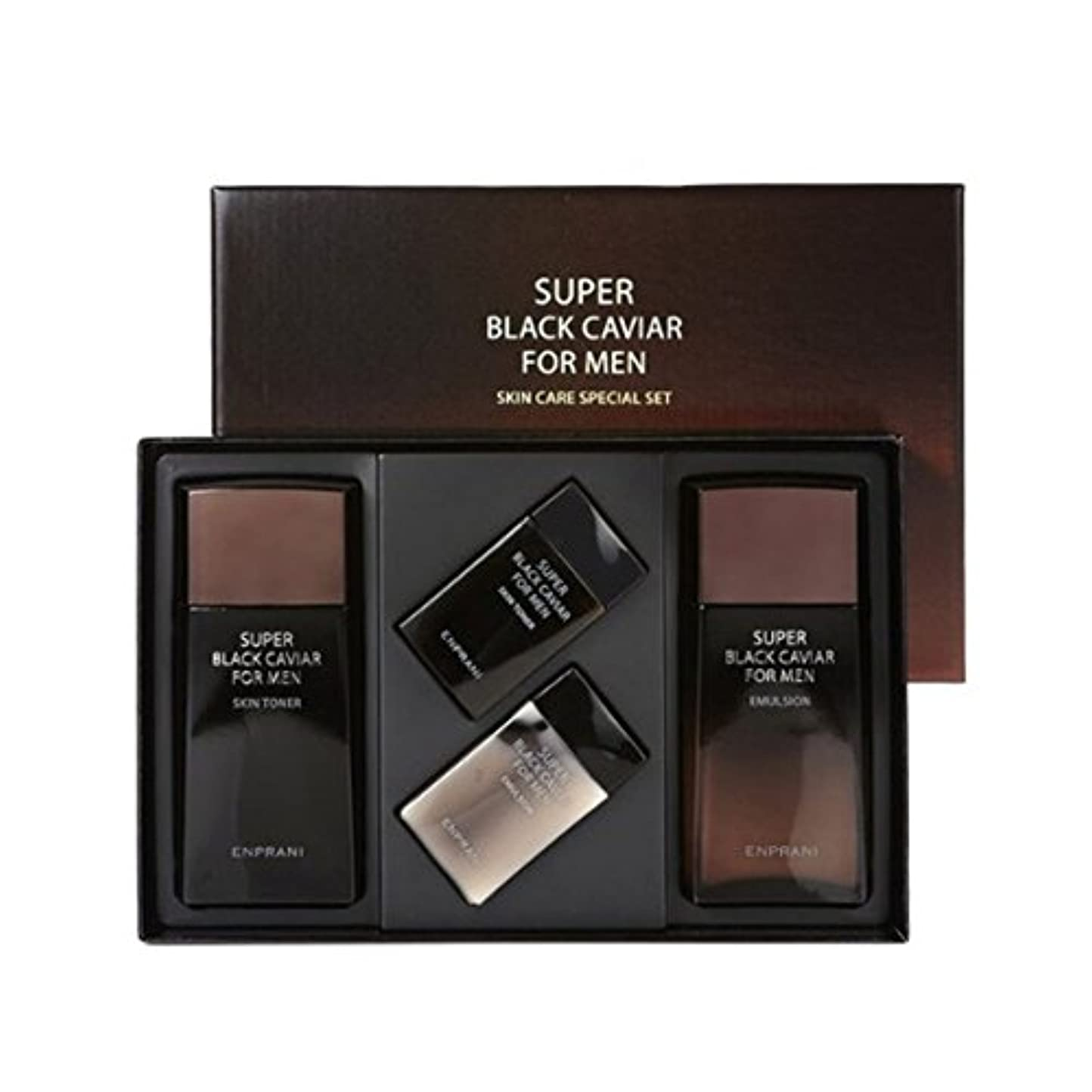ラインナップ他のバンドで生産性エンプラニスーパー?ブラック?キャビアフォーマンスキントナー(130+40ml) エマルション(130+40ml)、男性用化粧品、ENPRANI Super Black Caviar for Men Skin Toner(130+40ml) Emulsion(130+40ml) [並行輸入品]