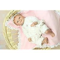 NPKDOLLリボーンベビードールハードシリコーン16インチ40センチメートル磁気ラブリーリアルなおもちゃかわいい少年少女のホワイトスマイル 人形 Reborn Baby Doll A1JP
