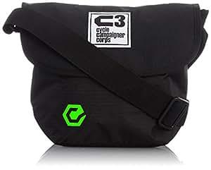 C3(サイクルキャンペイナーコープス) 自転車用フロントバッグ シースリーショルダーS (ブラック/グリーン)