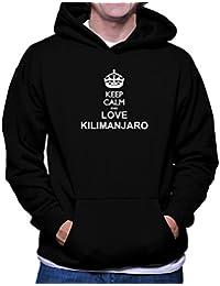 Keep calm and love Kilimanjaro フーディー