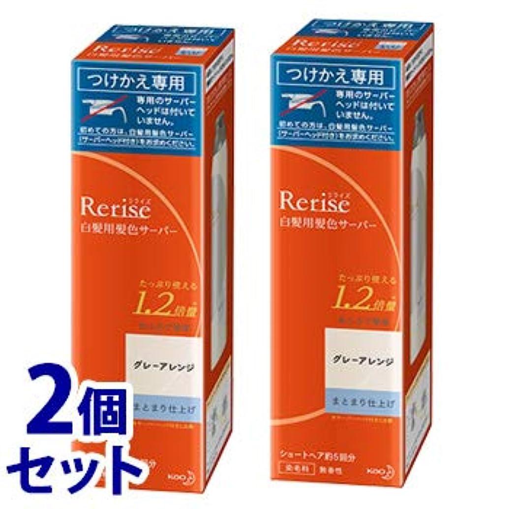 乳白ネクタイ義務的《セット販売》 花王 リライズ 白髪用髪色サーバー グレーアレンジ まとまり仕上げ つけかえ用 (190g)×2個セット 付け替え用 染毛料