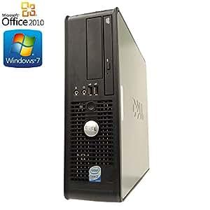 【Microsoft Office2010搭載】【Win7 搭載】DELL 760/最上位Core 2 Duo 3.33GHz/メモリ4GB/HDD1TB/DVDドライブ/中古デスクトップパソコン
