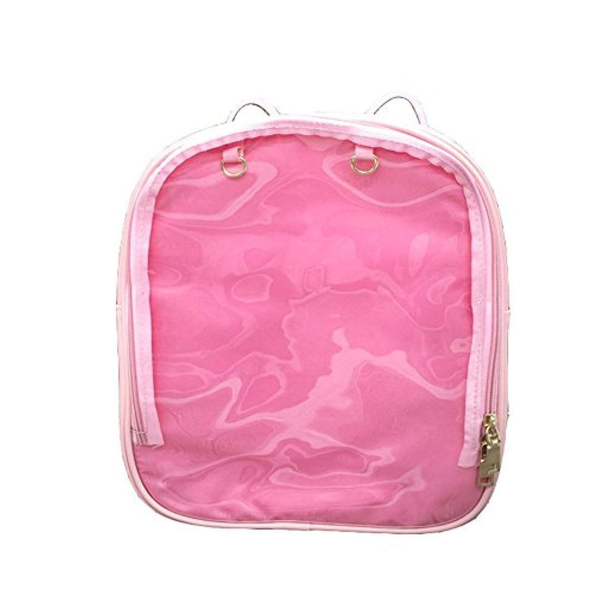 利点サイバースペース動的PANCY リュック かわいい 猫耳 痛バッグ レディース 透明 ビニール おしゃれ 通学 イベント用 5色