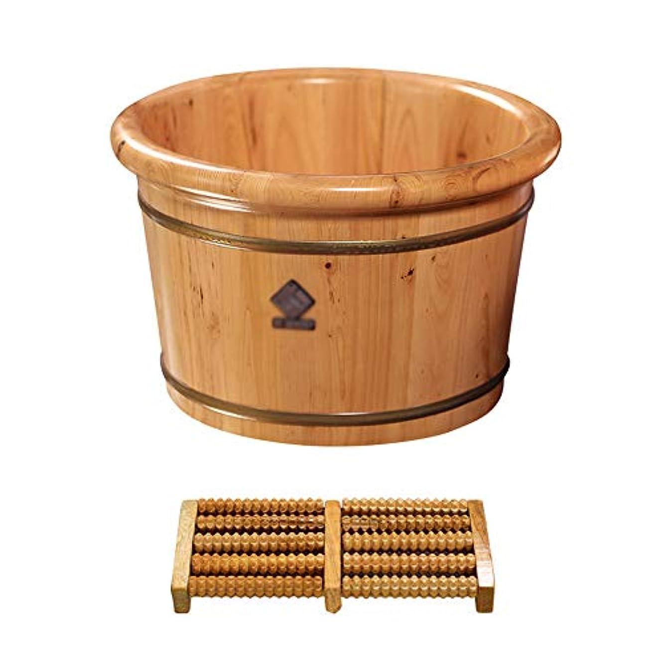 プレゼンター単調な熱心ヒマラヤスギ足浴バレル、厚くした足浴バレル、家庭用足浴、小さな浴槽、木製足浴バレル,E