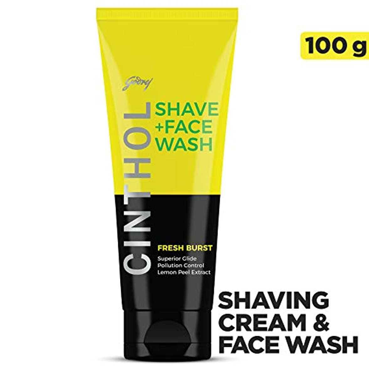 Cinthol Fresh Burst Shaving + Face Wash, 100g