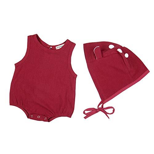 2c083e7350b80 エルフ ベビー (Fairy Baby) 夏 ベビー服 キャミソールロンパース ノースリーブロンパース カバーオール コットン柄 肌着 帽子付き  コットン かわいい size 90.
