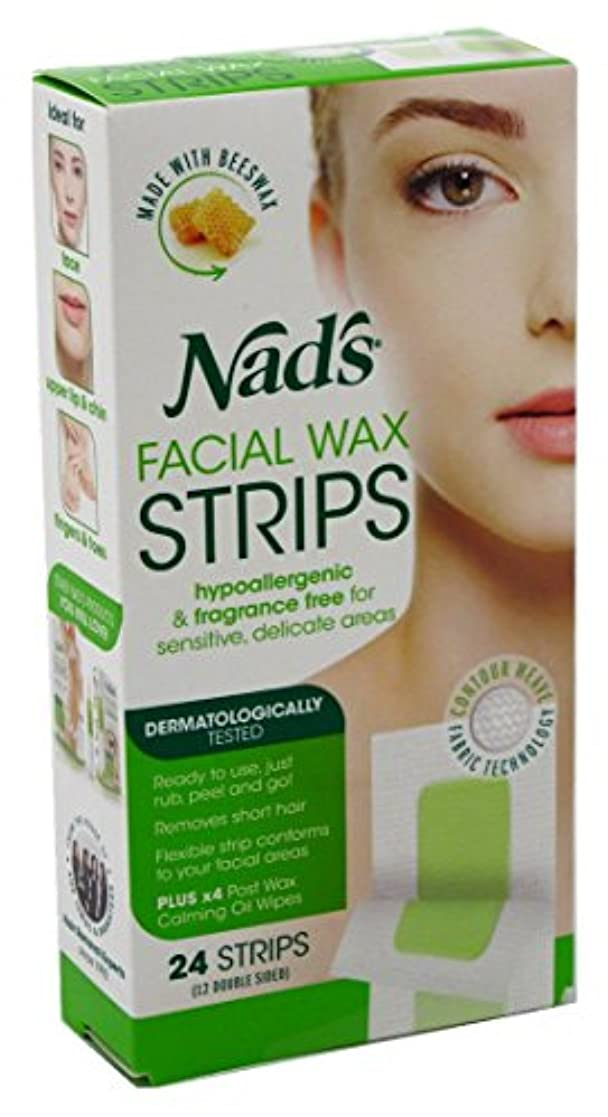 寛大な通信する適性NAD'S NADS脱毛?フェイシャルストリップ24カウント(3パック)
