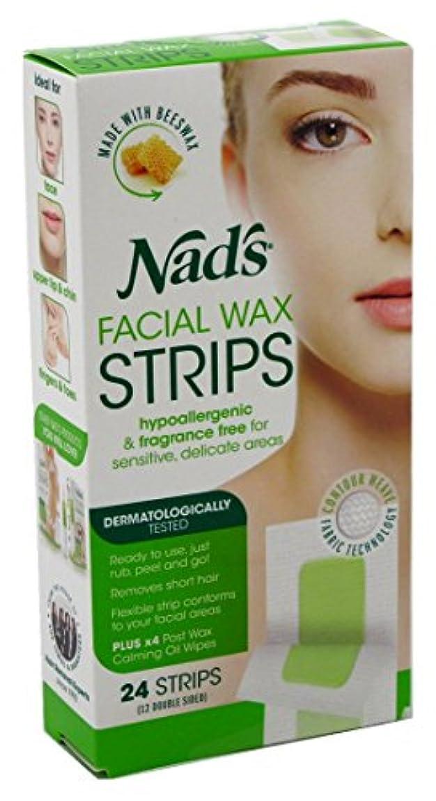 ランドマーク完全に乾く嫌いNAD'S NADS脱毛?フェイシャルストリップ24カウント(6パック)