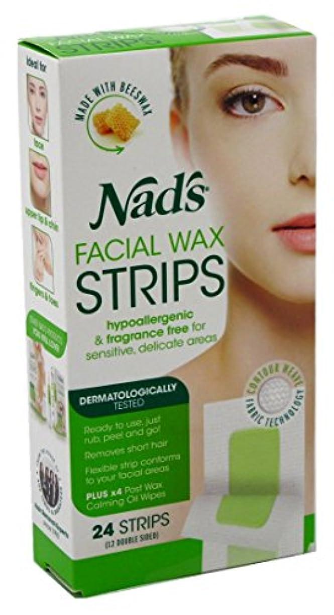 古い振幅早いNAD'S NADS脱毛?フェイシャルストリップ24カウント(6パック)
