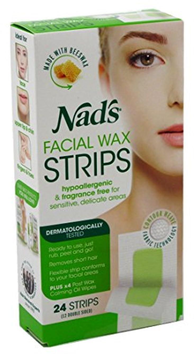フラッシュのように素早く農民豊富なNAD'S NADS脱毛?フェイシャルストリップ24カウント(6パック)