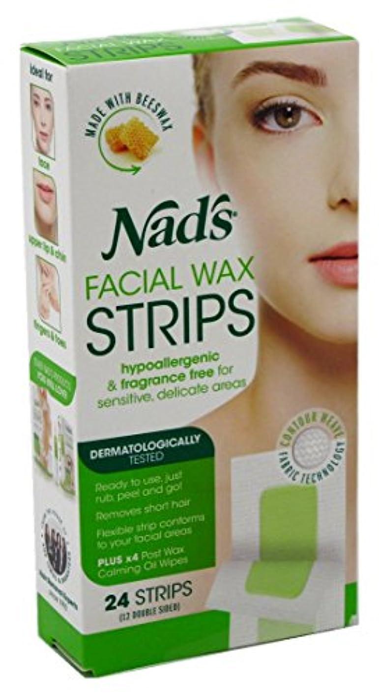 混合したエスカレーター筋NAD'S NADS脱毛?フェイシャルストリップ24カウント(6パック)